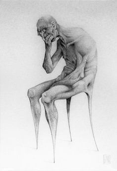 Eduardo Flores aka Bayo 'Anxiety', graphite on paper Angst, Art Portfolio, Pencil Art, Art Drawings, Figure Drawings, Graphite Drawings, Painting & Drawing, Art Projects, Art Photography
