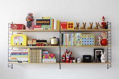 String shelf and vintage finds