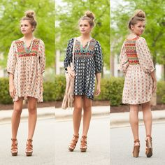 Boho print dress #swoonboutique