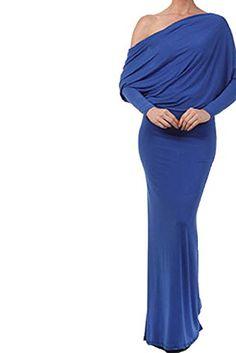 Cfanny Women's V Back Convertible Multiway Jersey Maxi Dress