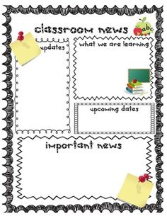 Classroom Newsletter Template Free Small Medium And Large Images - Daily newsletter template