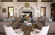 Light Brown Seating & Patterned Accents - ELLEDecor.com
