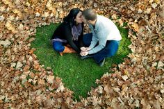 This could be easier than raking up leaves into a heart