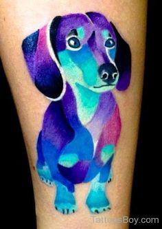 Watercolor Dog Tattoo-TB1116