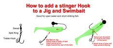 how to add a stinger hook to a jig and swimbait www.bigjoshyswimbaits.com
