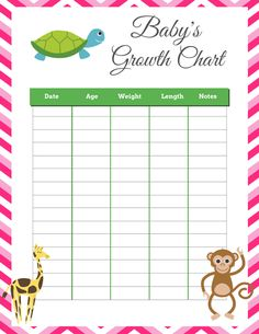 Free Printable Growth and Milestone Chart We celebrated ...