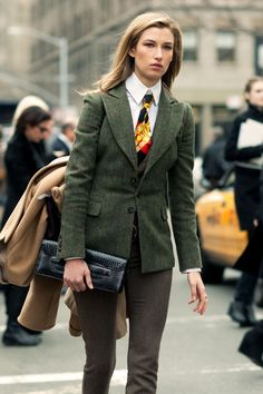 Women in menswear never ceases to amaze us, always a cool look