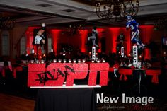 Sports Themed Bar Mitzvah Candle lighting Display Party Perfect, Boca Raton, FL 1(561)994-8833