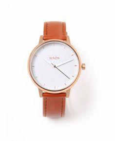 Nixon 'Kensington' Women's Leather Watch