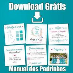 Baixe grátis Manual dos Padrinhos em alta qualidade para impressão. #Convites #download #gratis #baixar #convites #Casamento #noiva #brasão #chalkboard #floral #manual #padrinhos