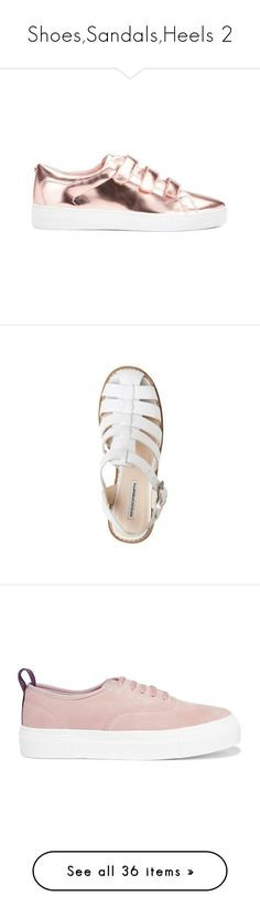 """""""Shoes,Sandals,Heels 2"""" by lalittaaristha ❤ liked on Polyvore featuring shoes, sneakers, gold, white velcro shoes, rose shoes, metallic sneakers, velcro strap sneakers, white sneakers, sandals and clothes - shoes"""