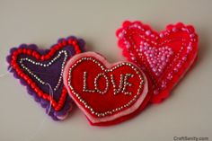 beaded hearts could be revamped for Christmas