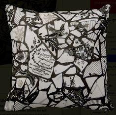 Mosaic Print Pillow #twosided # Mosaic #pillow #madetoorder #exclusive  #Design #Art Claudiagillgill.com