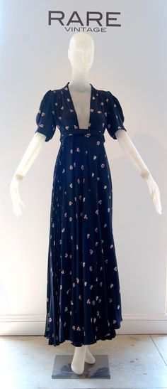 Ossie Clark w/Celia Birtwell print dress (Rare Vintage)