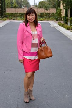 Throw Back Thursday Fashion Link Up: Pink Moto Jacket