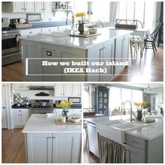 ikea hack {how we built our kitchen island} | jeanne oliver | ikea