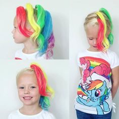 Maddy crazy hair day My Little Pony – Rainbow Dash Crazy Hair For Kids, Crazy Hair Day At School, Crazy Hat Day, Crazy Hair Day Girls, School Days, Crazy Hair Day For Teachers, School Stuff, Wacky Hair Days, Fantasy Makeup
