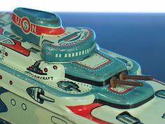 Wyandotte Battleship Tin Litho Navy Destroyer #vintage #toys #ships