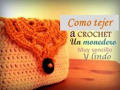 crochet tutorial for purse ♥ Diy Crochet Coin Purse, Crochet Case, Crochet Keychain, Crochet Purses, Crochet Squares, Crochet Stitches, Crochet Patterns, Unique Crochet, Cute Crochet