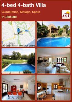 4-bed 4-bath Villa in Guadalmina, Malaga, Spain ►€1,300,000 #PropertyForSaleInSpain