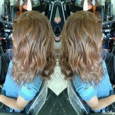 Natural blond balayage