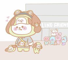 Super Funny Pictures Anime So Cute Ideas Super Funny Pictures, Bts Pictures, Bts Chibi, Bts Bangtan Boy, Bts Jimin, Bts Drawings, Line Friends, Bts Fans, Kpop Fanart