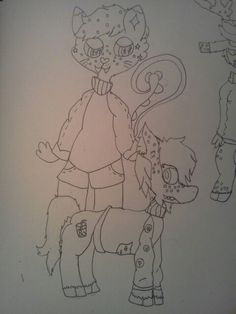 So this my my Squirrel persona and Ponysona  in  @teaspirits  this is still WIP and wait wait wait this is part one i have a two other drawings