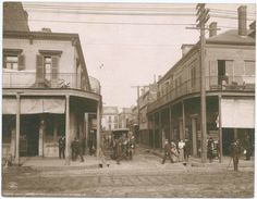 A street corner in New Orleans. NYPL, Photography Collection, Miriam and Ira D. Wallach Division of Art, Prints and Photographs. Digital ID: 120443.