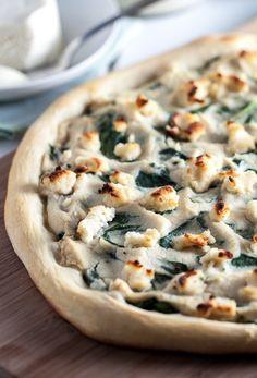 Roasted Garlic White Pizza.