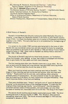Dedication program September 29, 1974 page 2