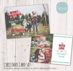 Get in Season and offer your clients some stylish festive cards.    This template is an *INSTANT DOWNLOAD* • 2 x fully layered Adobe Photoshop
