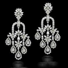 FKFJ Jewelry Art, Jewelry Design, Women Jewelry, Men's Jewellery, Designer Jewellery, Diamond Jewellery, Diamond Earing, Diamond Hoop Earrings, Bridal Earrings