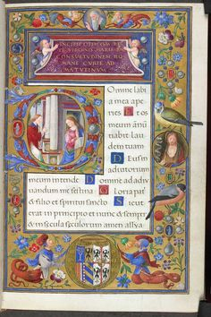 """""""An historiated initial, flowers, birds, jewels, putti, creatures with tails: what doesn't this page have? https://t.co/prQ0swA9T3"""""""