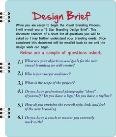 how to write a design brief for students
