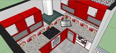 Proyecto de una cocina de 9m cuadrados.