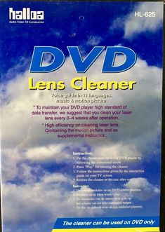 DVD LENS CLEANER HL-625 HALLOA AUDIO VIDEO DISC ACCESSORIES DVD PLAYER Video Cd, Home Tv, Dvd Players, Lens, Accessories, Shop, Ebay, Store, Ornament