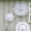 Set Of Four Paper Snowflake Decorations