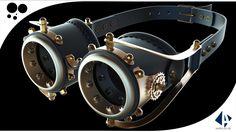 Tutorial Cinema 4D - Modelagem Óculos Steampunk (Steampunk Glass) - Rend...