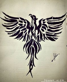 Sketched a #pheonix #classwork 😁#decal#tattoo#sticker#artoftheday P.S:pls ignore the idiots with the #biriyani comments!!😂