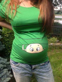 Maternity, Maternity clothes, Maternity Clothing, Maternity Shirt, Baby Pregnancy MATERNITY Shirt, Peekaboo, Peek a boo, Baby Peeking on Etsy, $22.00