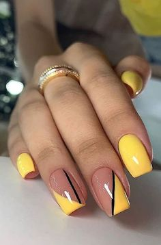 Just paint a random touch on your nails and cover it with bright nail polish. You will find different beauty. I hope to find more inspiration for your nail design Stylish Nails, Trendy Nails, Colorful Nail Designs, Fancy Nails Designs, Cute Summer Nail Designs, Black Nail Designs, Short Nail Designs, Nail Designs Spring, Simple Nail Designs