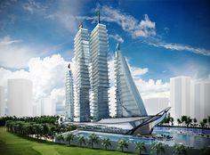 Architect ontwerpt nieuw ziekenhuis in schipvorm