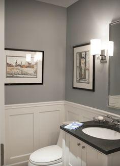 White board & batten- guest bathroom