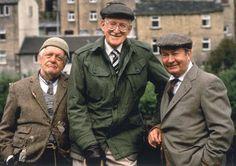 Last of the Summer Wine: Compo Simmonite (Bill Owen), Foggy Dewhurst (Brian Wilde), and  Norman Clegg (Peter Sallis)