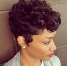 Short Curly Haircut w/ Wavy Sideburns