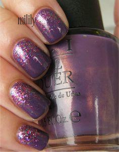 Purple glitter gradient    (via Milily @ makeupalley.com)
