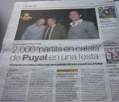 La lletra Anna a la samarreta commemorativa dels '2000 partits en català' de J.M.Puyal. 'El Periódico'   22 maig 2013.