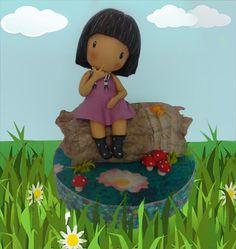 Os dejo con un tutorial para hacer un modelado de la famosa muñeca Gorjuss en versión infantil. Un modelado muy fácil que sorprenderá a vuestro homenajeado/a en su día.