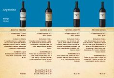 Carta de Vinho - Brunholi