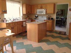 zigzag linoleum tiles - kitchen by Studio Z Architecture